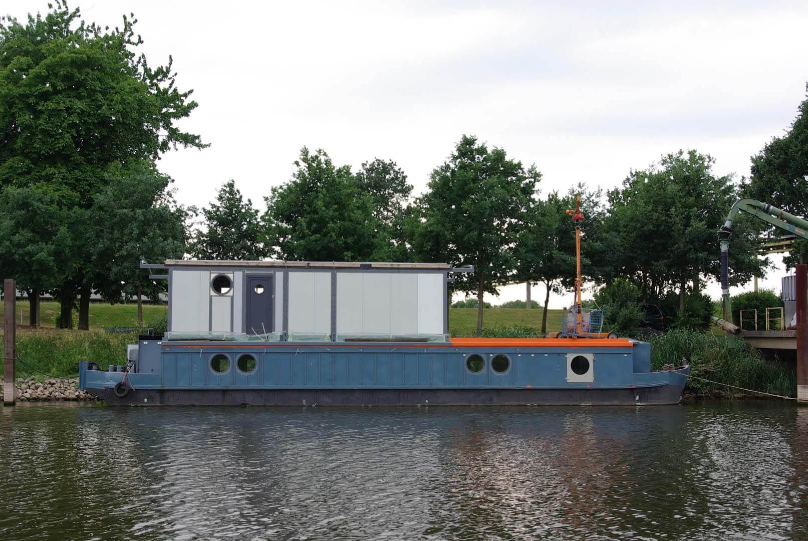 Die Peissnitz ist zweistöckig: Im Umbauhafen in Hoya